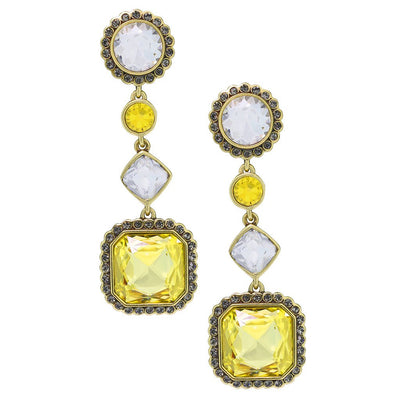 """Breakfast at Heidi's"" Crystal Drop Deco Earrings - Heidi Daus®"