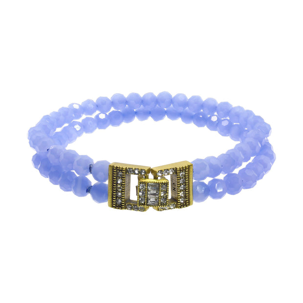 """Everyday Elegance"" Crystal Double Strand Bracelet - Heidi Daus®"