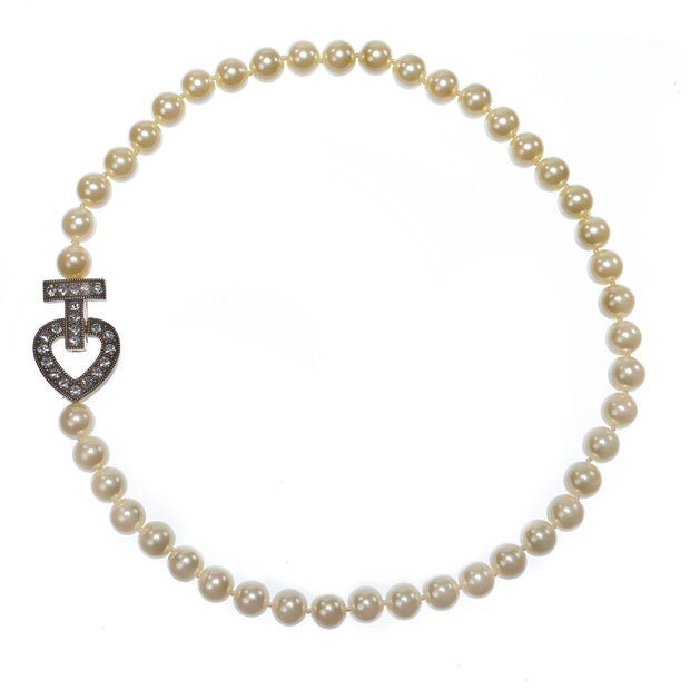 """Wrapped In Love"" Crystal & Pearl Strand Necklace - Heidi Daus®"