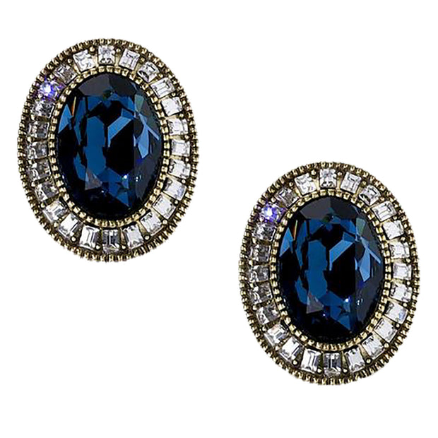"""Signature Accent"" Swarovski Button Earrings - Heidi Daus®"