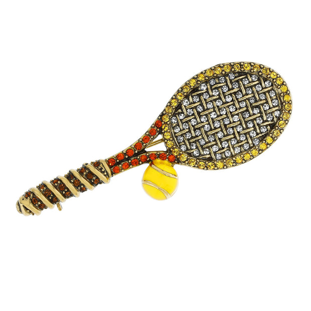 "Heidi Daus® ""Smash Hit"" Enamel & Crystal Tennis Pin - Heidi Daus®"