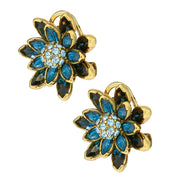 "HEIDI DAUS® ""Waterlily"" Crystal Floral Button Earrings - Heidi Daus®"