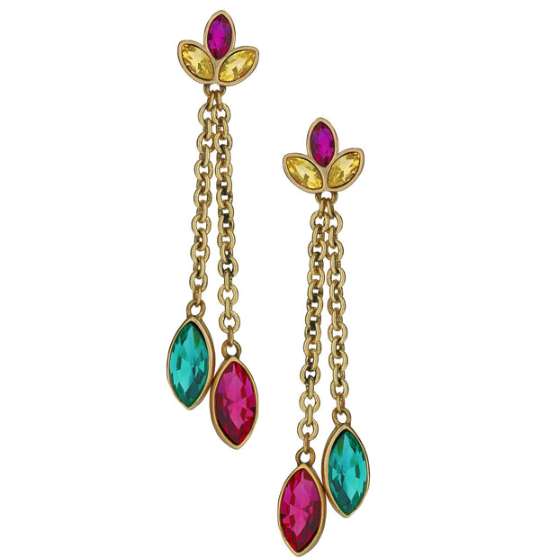 "HEIDI DAUS® ""Nouveau Navettes"" Crystal Floral Drop Earrings - Heidi Daus®"