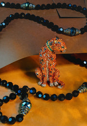 """Fierce and Fabulous"" Crystal Cheetah Pin - Heidi Daus®"
