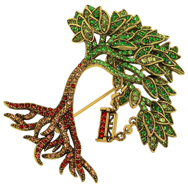 """Tree of Life"" Crystal Tree Pin - Heidi Daus®"