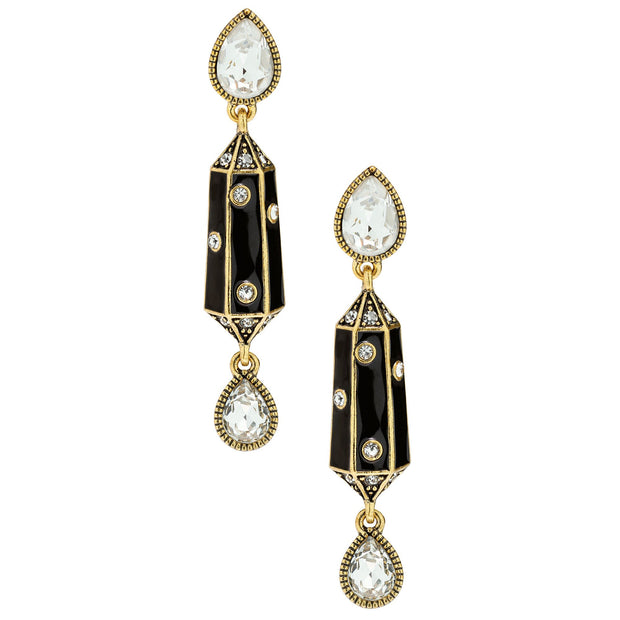 "HEIDI DAUS®""It's Raining Gems"" Enamel & Crystal Drop Earrings - Heidi Daus®"