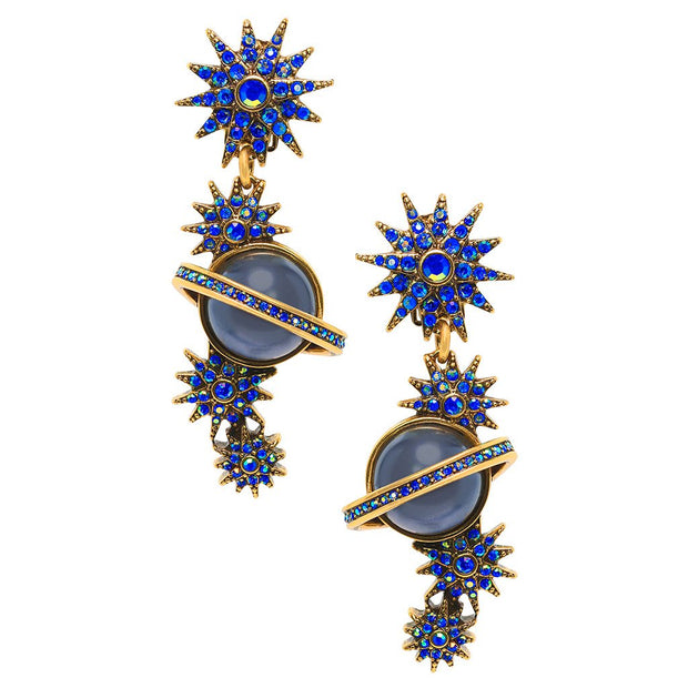 """Out of this World"" Crystal Drop Earrings - Heidi Daus®"