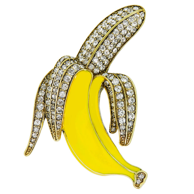 "HEIDI DAUS®""The Real Peel"" Enamel Crystal Banana Pin - Heidi Daus®"