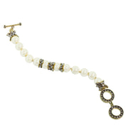 """Elegant Tear Drop"" Beads Crystal Toggle Bracelet - Heidi Daus®"