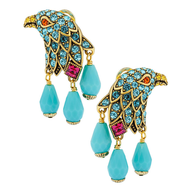 """Soaring Beauty"" Beaded Crystal Drop Bird Earrings - Heidi Daus®"