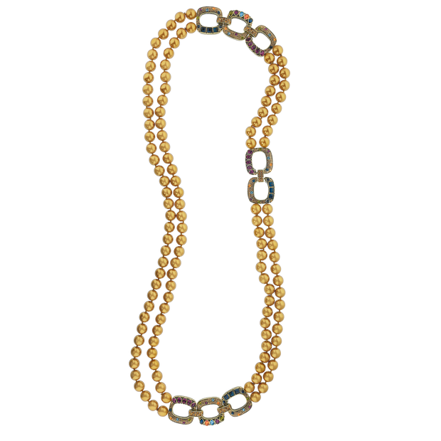 """Lux Links"" Pearl Necklace - Heidi Daus®"