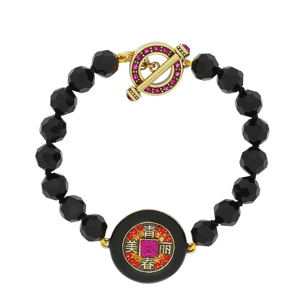 "HEIDI DAUS® ""Power Pretty"" Beaded & Crystal Toggle Bracelet - Heidi Daus®"