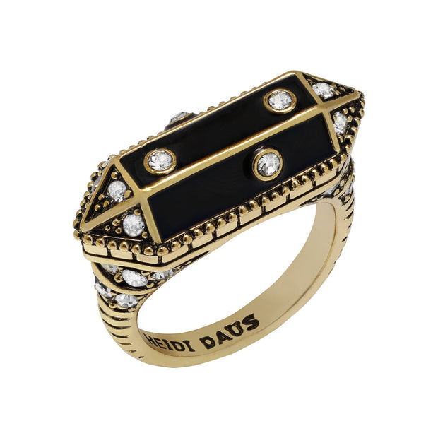 "HEIDI DAUS®""It's Raining Gems"" Enamel & Crystal Ring - Heidi Daus®"