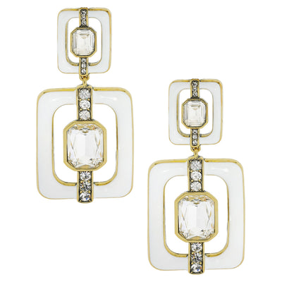 """Thoroughly Modern"" Crystal Deco Drop Earrings - Heidi Daus®"