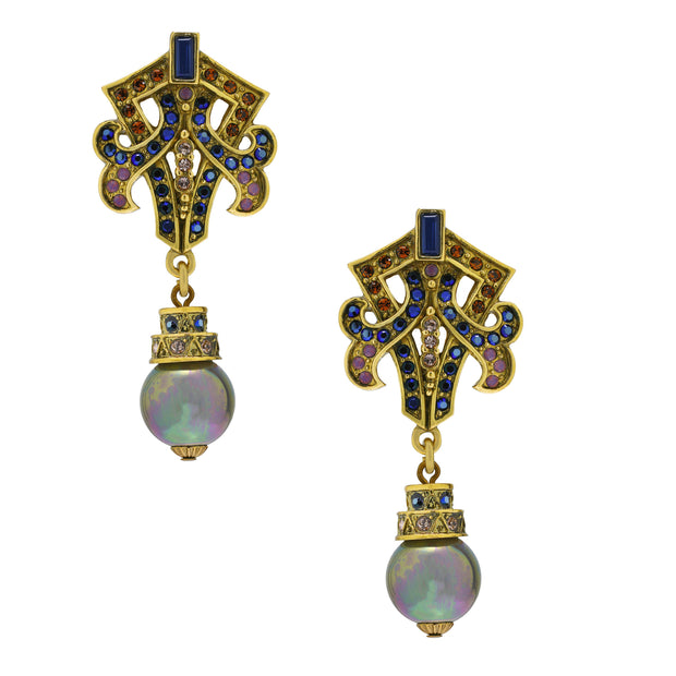 """Alluring Interlude"" Crystal Beaded Drop Earring - Heidi Daus®"