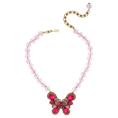 """Blushing Butterfly"" Crystal Beaded Necklace - Heidi Daus®"