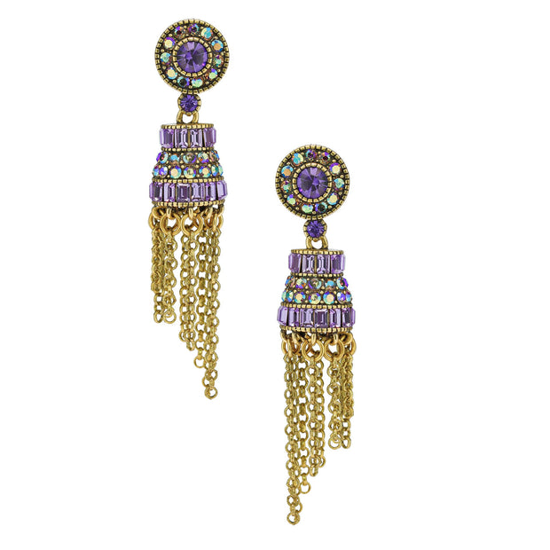 "HEIDI DAUS® ""King Louis"" Crystal Tassel Drop Earrings - Heidi Daus®"