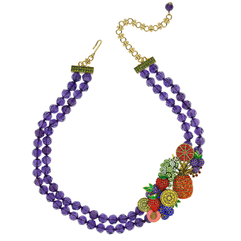 """Ambrosia""  Crystal Beaded Fruit Necklace"