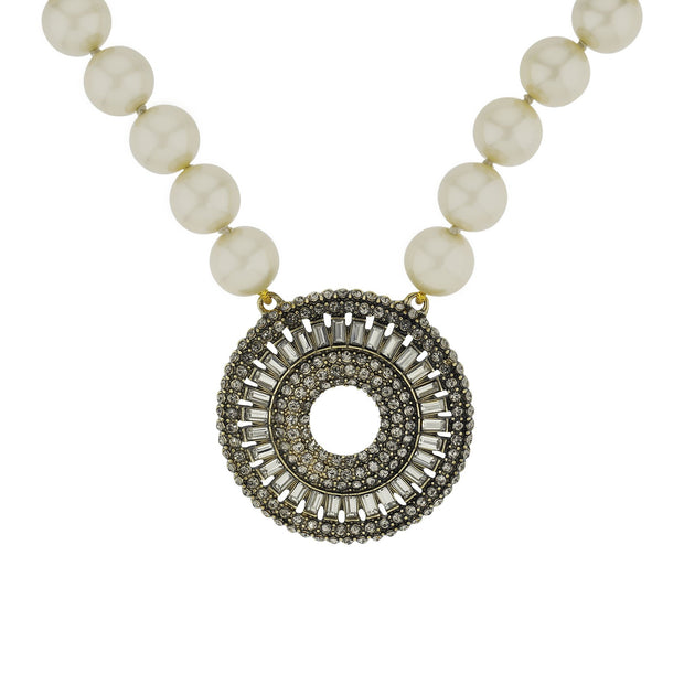 """Baguette Bliss"" Crystal Beaded Drop Necklace"