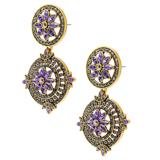 """Paris Salon"" Crystal Drop Earrings - Heidi Daus®"