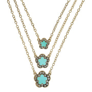 "HEIDI DAUS® ""Easy Does It"" Enamel & Crystal Triple Drop Necklace - Heidi Daus®"