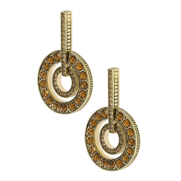 Double Circles Crystal Earring - Heidi Daus®