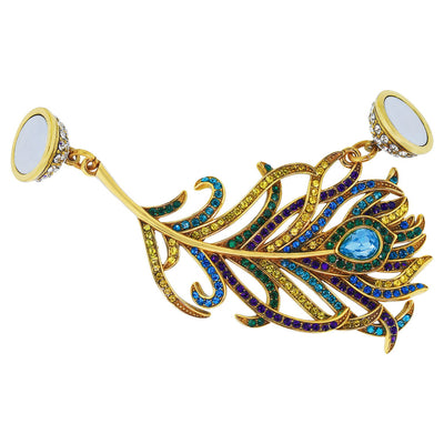 "HEIDI DAUS®""Pretty as a Peacock"" Magnetic Charm - Heidi Daus®"