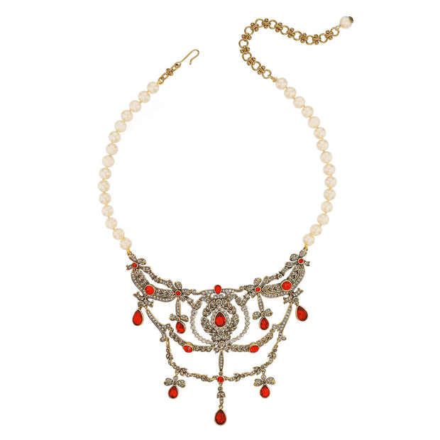 "HEIDI DAUS® ""Regal Ribbon"" Crystal & Pearl Necklace - Heidi Daus®"