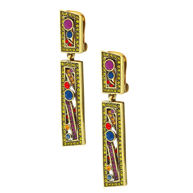"HEIDI DAUS® ""Captivating Collar"" Crystal Drop Earrings - Heidi Daus®"
