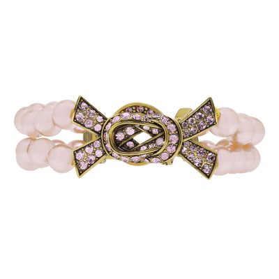 """Sparkle Strong"" Beaded Crystal Ribbon Toggle Bracelet - Heidi Daus®"