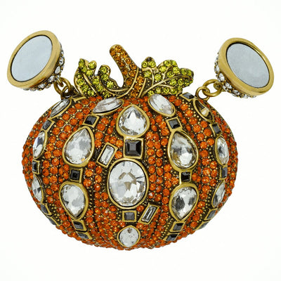 """Gourdgeous Pumpkin"" Crystal Magnet October Pumpkin Charm"
