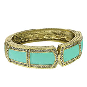 "HEIDI DAUS® ""Bar Harbor Elegance"" Enamel & Crystal Bangle Bracelet - Heidi Daus®"