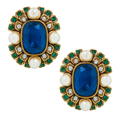 """Contemporary Collectable"" Beaded Crystal Deco Earring"