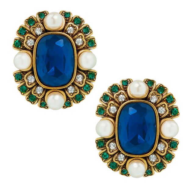 "HEIDI DAUS® ""Contemporary Collectable"" Beaded Crystal Deco Earring - Heidi Daus®"