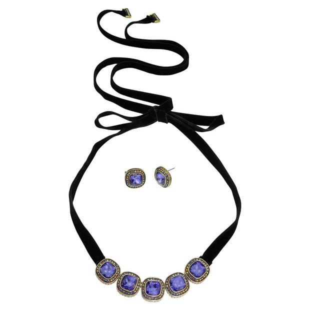 """Captivating Cushion"" Necklace and Earring Set - Heidi Daus®"