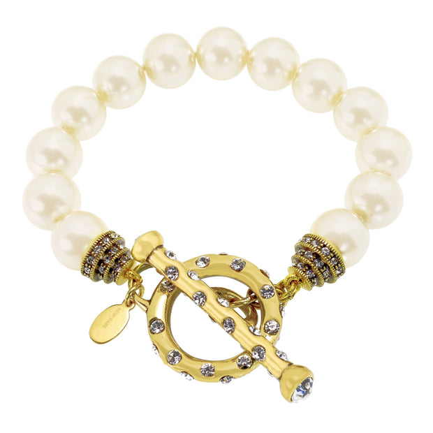 "HEIDI DAUS® ""Chain Reaction"" Beaded Crystal Toggle Bracelet - Heidi Daus®"