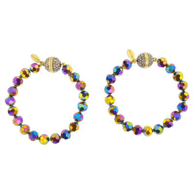 "HEIDI DAUS®""Endless Possibilities"" Crystal Beaded Interchangeable Bracelet Set - Heidi Daus®"