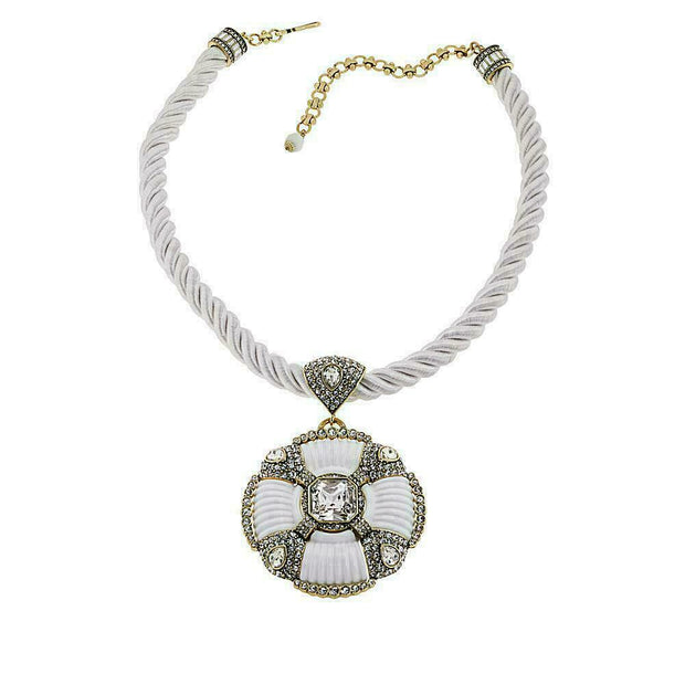 "Heidi Daus®""Yacht Club"" Enamel Crystal Necklace - Heidi Daus®"