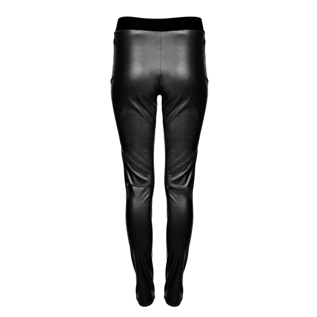 HEIDI DAUS® Film Noir Black High Waisted Vegan Leather Leggings - Heidi Daus®