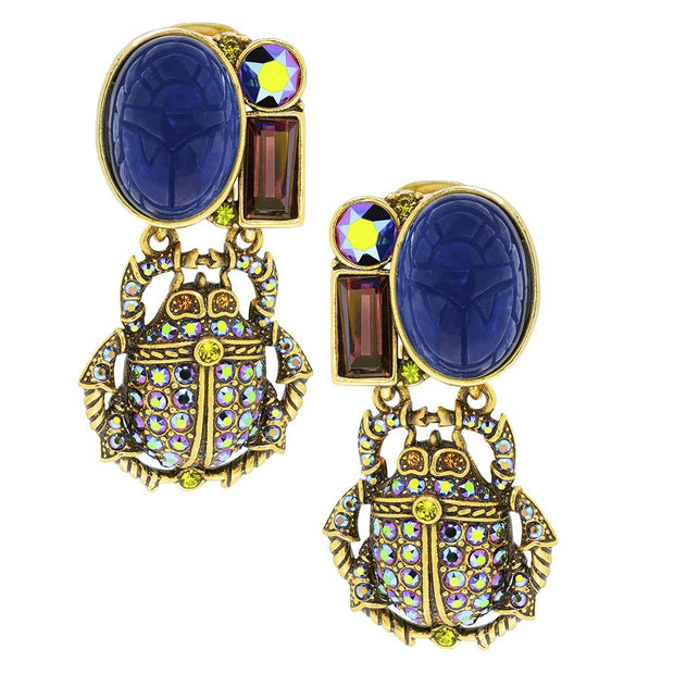 "HEIDI DAUS® ""Love Bug"" Crystal Drop Beetle Earrings - Heidi Daus®"