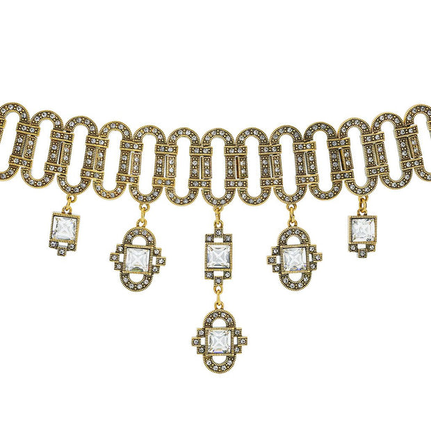 """Deco Drama"" Crystal Drop Necklace"