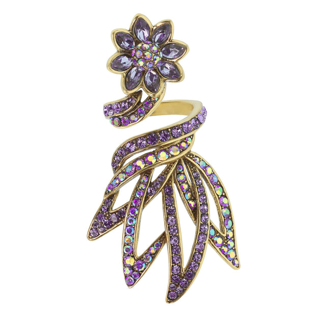 "HEIDI DAUS®""Whimsical Water Lily"" Crystal Flower Ring - Heidi Daus®"