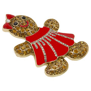 "HEIDI DAUS®""Gingerly Gorgeous"" Gingerbread Woman Pin - Heidi Daus®"