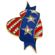 """Dedicated Dazzle"" Enamel Crystal Pin - Heidi Daus®"