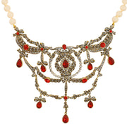 """Regal Ribbon"" Crystal & Pearl Necklace - Heidi Daus®"