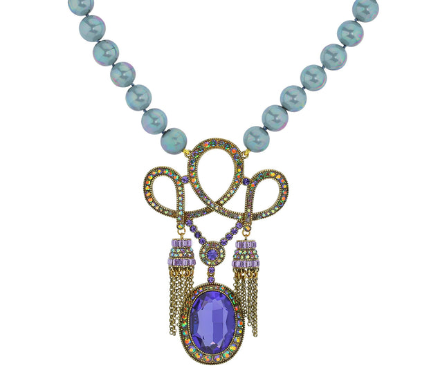 "HEIDI DAUS® ""King Louis"" Beaded Crystal Tassel Necklace - Heidi Daus®"