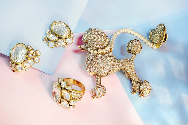 """C'est Chic"" Pearl and Crystal Pin - Heidi Daus®"