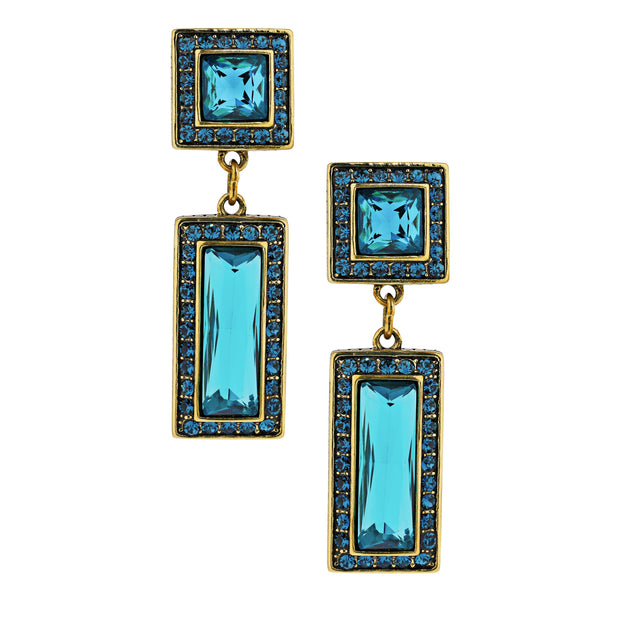 "HEIDI DAUS® ""Fabulous Fancy Cut"" Crystal Deco Drop Earrings - Heidi Daus®"