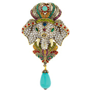 "HEIDI DAUS® ""The Emperor's New Clothes"" Beaded Crystal Elephant Pin - Heidi Daus®"