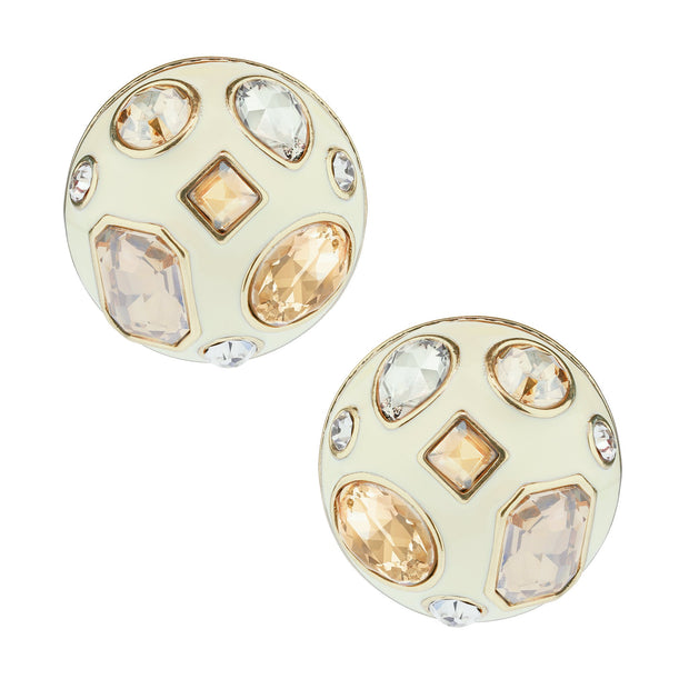 "HEIDI DAUS® ""Winning Combination"" Crystal & Enamel Earrings - Heidi Daus®"